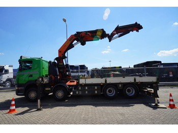 Scania R 420 8X4 OPEN BOX WITH PALFINGER PK 85002 CRANE WITH PJ 170E JIB - caminhão
