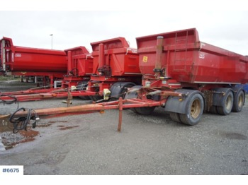 Norslep Annet SL-28T 3 axle (1+2) Tipper trailer with good tires - reboque basculante