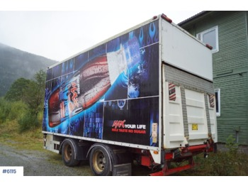 Norslep 2 axle thermo trailer with Bussbygg box and lift - reboque frigorífico