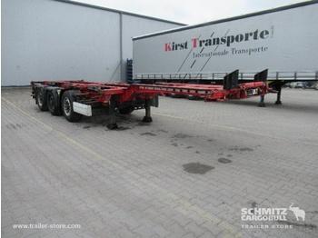 Semi-reboque transportador de contêineres/ caixa móvel KRONE Auflieger Containerfahrgestell Slider