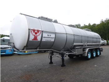 Burg Chemical / Food tank inox 36 m3 / 3 comp / ADR valid 03/2021 - semireboque tanque