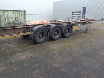 Semireboque transportador de contêineres/ caixa móvel Pacton 3 Axles BPW 2 X 20ft or 40ft