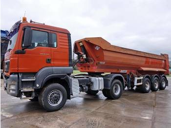 MAN TGS 18.440 + Tipper trailer 6 Units  - tractor